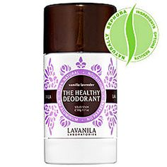 The Healthy Deodorant. A clinical-strength deodorant that is 100% natural, safe, and effective.    What it is formulated to do:  LAVANILA The Healthy Deodorant uses beta-glucan technology to effectively fight odor while soothing, conditioning, and strengthening the skin. It goes on clean, with no sticky wetness, and delivers long-lasting, luxurious results.    What it is formulated WITHOUT:  - Parabens  - Sulfates  - Synthetic Dyes  - Petro-Chemicals  - Phthalates
