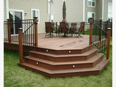 Like the steps on this deck - Home and Garden Design Ideas