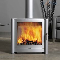 Firebelly FB2 Double Fronted Pewter 12kw Woodburner