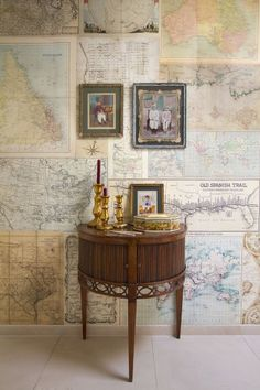 Old Maps mural (2200101) - Paper Moon Wallpapers - This mural is created from images of old maps inspired by travel from the past. Mural size:  232.5 cm wide and 270cm high. Paste the wall.  As this is a special order product, it may take 7-10 working days.