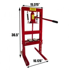 Dragway Tools 6 Ton Hydraulic Benchtop Press with Press Plates and H Frame
