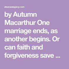 by Autumn Macarthur One marriage ends, as another begins. Or can faith and forgiveness save Beppe and Teresa's life together? When the harvest celebrations and a family wedding bring the eigh…