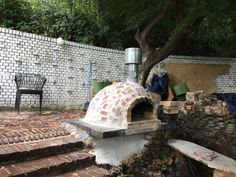 jazz와 산조의 woodfire pizza oven