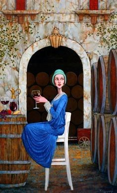 Waiting on a friend (Fred Calleri) pieces) Art And Illustration, Illustrations, Waiting On A Friend, Art Sketches, Art Drawings, Figurative Kunst, Renoir, Whimsical Art, Monet