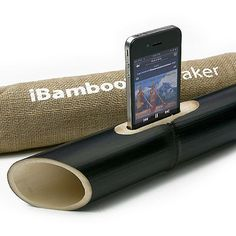 iBamboo iPhone Speaker. No wires, just natural resonance. Would be great for the beach.