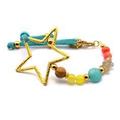 Pulsera My Star Blue #bracelets #fashion #moda #style #semipreciosas #ágata #jaspe #tendencia #ss15 #primavera15 www.byneskapolita.com