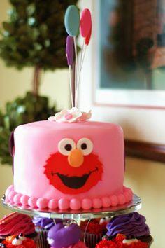 elmo birthday cake for a girl - Buscar con Google