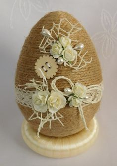 Faberge Eggs, Easter Crafts, Easter Eggs, Diy And Crafts, Amazing, Burlap, Twine, Craft Tutorials