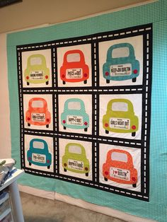 Finished! Now ready for the quilter. #rowbyrowexperience License Plate Quilt. #zebrapatterns