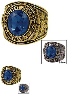 Other Jewelry and Watches 98863: Mens Navy Military Ring BUY IT NOW ONLY: $42.5
