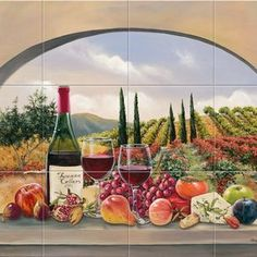 tuscan kitchen ideas   Ideas For Custom Tuscan Kitchen-Backsplash Designs For Your Kitchen ...
