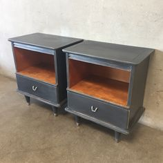 "Pair of Mid Century Upcycled Nightstands  26"" x 22"" x 14 1/4"""
