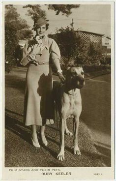 0 ruby keeler with chihuahua and great dane