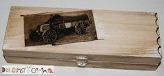 Piórnik drewniany w starym stylu w Dekoratorka na DaWanda.com