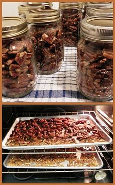 Several recipes and ideas for canning Nuts, Jams and Jellies. Includes recipes for marmalade and a carrot mix that sounds delicious