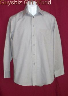 NWOT Mens Stafford Wrinkle Free Button Long Sleeve Sz15 #guysgifts