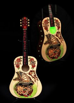 """Original Pyrography & Hand Painted Artwork """"Music Is My Home"""" by LaurieJo Moore"""
