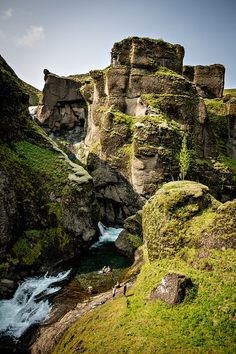 """Fjaðrárgljúfur in Iceland   Looks like some of the scenery from """"Vikings"""" on the History channel."""