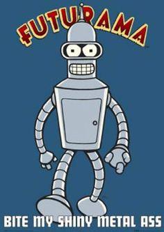 "Bender Futurama: 25 x 35"" poster #Futurama #Bender #Poster"