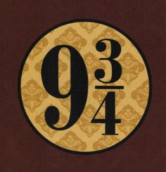 Platform 9 3/4 Harry Potter fabric!  Would make a great quilt block!  By Fandom Fabric on Etsy