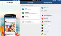 Usa dos cuentas de WhatsApp, Telegram... en tu móvil con Go Multiple, la aplicación que duplica apps