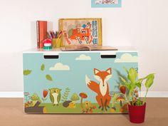 """Möbeltattoo für IKEA STUVA """"Neulich im Wald"""" #Kinderzimmer"""