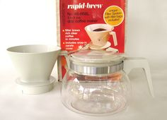 New to LaurasLastDitch on Etsy: Drip Coffee Maker Glass Carafe Coffeepot Rockline Rapid Brew NOS Deadstock 1980s Kitchen (26.99 USD)