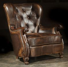 Unique-tufted-leather-chair