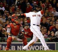 Big Papi taking care of business in game one of the 2013 World Series