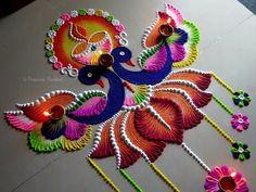 Rangoli Designs Simple Diwali, Indian Rangoli Designs, Rangoli Designs Latest, Simple Rangoli Designs Images, Rangoli Designs Flower, Free Hand Rangoli Design, Rangoli Border Designs, Small Rangoli Design, Rangoli Patterns