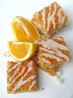 Orange Creamsicle Bars | The Monday Box  #creamsicle #orangeblondie #carepackagerecipe