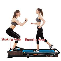 EGOFIT Treadmill 3 in 1 Integrate Running Machine and Vibration Platform Under Desk Treadmill Walking Machine Perfect for Office & Home Workout List, Track Workout, Workout Gear, No Equipment Workout, Fitness Equipment, Treadmill Desk, Treadmill Reviews, Running Machines, Going To The Gym