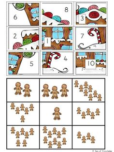 The ultimate engaging math game? Use these Free Christmas Math Puzzles that feature gingerbread men! Fun puzzles with 'mystery pictures'! Christmas Math, Preschool Christmas, Math Games, Preschool Activities, Christmas Planning, Classroom Freebies, Maths Puzzles, Theme Noel, Math For Kids