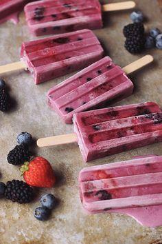 Summer Berry-Coconut Milk Ice Pops - Vibrant Food Cookbook Giveaway - Tasty Yummies