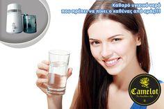 Σύστημα καθαρισμού του νερού (Φίλτρα απόσταξης) Columbia D Water System της Camelot. Η νέα παγκόσμια δύναμη για να έχετε πάντα εγγυημένα  καθαρό και υγιεινό νερό απ' όπου και εάν το πάρετε είτε από την βρύση, από πηγάδι, λίμνη ή ακόμα και από θάλασσα. Glass Of Milk, Columbia, Drinks, Drinking, Beverages, Drink, Colombia, Beverage