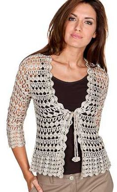 Lace Top blouse Jacket Crochet Handmade Made to by AtelierJoanna