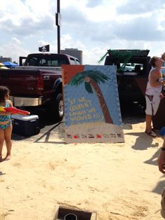 Version of Plinko for our Jimmy Buffett Tailgate party.