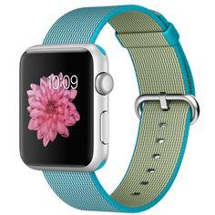 Apple Watch Sport - 42mm Silver Aluminum Case with Scuba Blue Woven Nylon - Apple