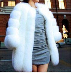 New warm winter coat fashion fox fur coat silver fox coat black white Middle- long overcoat Free Shipping0
