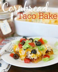 The Country Cook: Cornbread Taco Bake