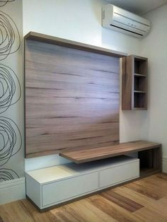 45 Amazing Entryways Decorating Ideas On A Budget - Page 42 of 45 Tv Stand Modern Design, Modern Tv Unit Designs, Tv Stand Designs, Living Room Tv Unit Designs, Simple Tv Unit Design, Tv Unit Interior Design, Tv Unit Furniture Design, Tv Wall Design, Modern Tv Room