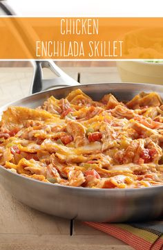 Made with corn tortillas, cooked chicken and zesty RO*TEL tomatoes, our Chicken Enchilada Skillet will add lots of flavor to your next weeknight dinner. @baaskabaaska
