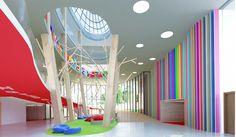 Modern Lobby - Swiss International School - designed by Swiss Bureau Interior Design LLC.