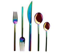 iridescent flatware | sightunseen.com