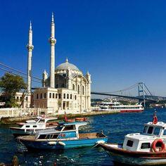 Ortaköy Mosque and the Bosphorus Bridge #Travel # #Turkey #SerifYenen