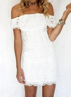 Nice DeRuiLaDy Sexy Women Mini Dress Off Shoulder Sexy Lace Embroidery Bodycon Dresses Summer Beach Party White Casual Dress vestido - Buy it Now! Girls White Lace Dress, Dress Outfits, Fashion Dresses, Casual Dresses, Sexy Women, Vestido Casual, Frack, The Dress, Ideias Fashion