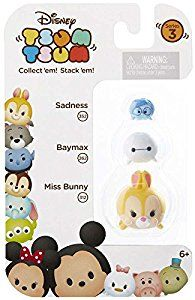 "Amazon.com: Disney Tsum Tsum Series 3 Sadness, Baymax & Miss Bunny 1"" Minifigure 3-Pack #352, 259 & 312: Toys & Games"