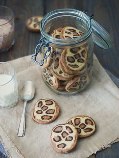 Sablés léopard  http://www.confitbanane.com/ #sablés #léopard #biscuit #cookies                                                                                                                                                                                 Plus