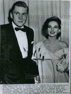 Natalie with Lance Reventlow at the Academy Awards #blackandwhite #oscarnight
