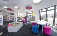 The childrens' library at the new Towcester Library Plus